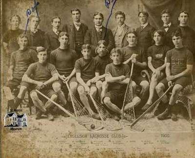 Excelsior Lacrosse Club, 1900.