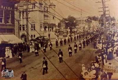 Parade down Queen Street