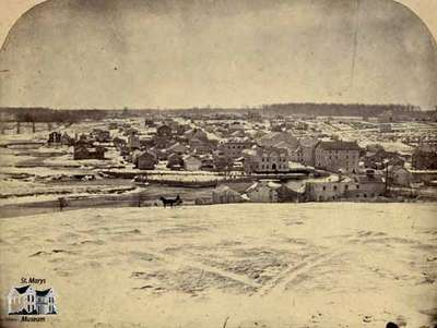 View of St. Marys Looking South, 1864.