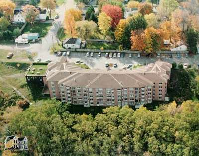 Aerial Photograph of the Rotary Apartments