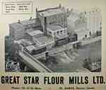 Aerial Photograph of The Great Star Flour Mills, ca. 1958