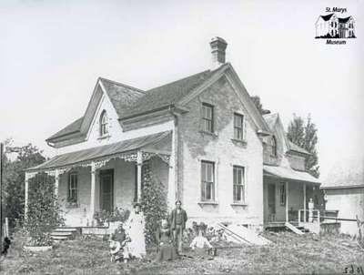 Farmhouse and Family, St. Marys Area, c. 1902-1906