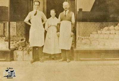 People in front of Hutton's Store
