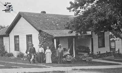 McAuley Family in front of their House