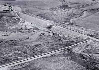 Aerial Photograph of Wildwood Dam Construction
