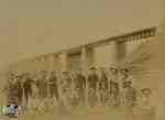 Work Crew in Front of London Railway Bridge