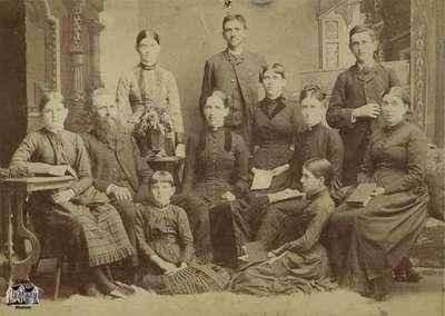 Family; 3 men, 8 women