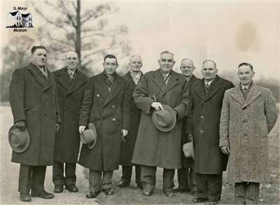 The Canadian Champion Ploughmen visit the Royal Farms at Windsor, Jan 27, 1947