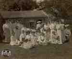 Women at barn raising at Jas. McIntyre's farm in Motherwell, 1906