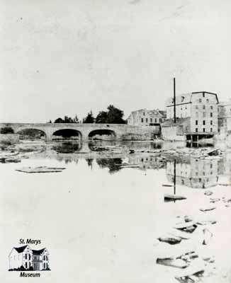 Victoria Bridge and Mill, 1884