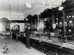 Interior of Andrews' store with electrical lighting