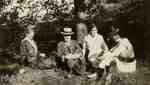 Barbara Sparks, Dr. Knox, Cora Waring and Margaret Black