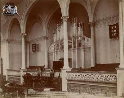 Interior of the Methodist Church