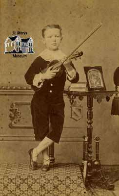 George Fox with violin