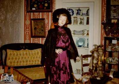 Mannequin and dining room at St. Marys Museum, ca. 1975