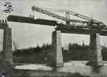 Replacing girders on the Sarnia railway bridge