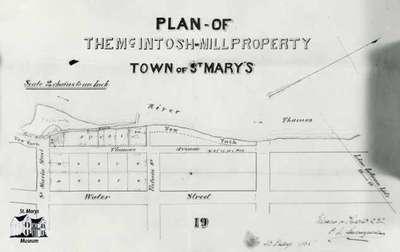 Plan of McIntosh Mill Property (Woolen Mill), 1868