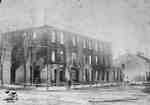 National Hotel morning after fire, 1896