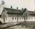 Concrete foundation on barn, 1915