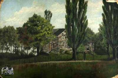 Painting of home at Townline of Blanshard and Fullarton