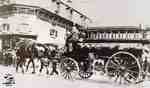 Horse Drawn Fire Wagon at Water and Queen Streets (ca. 1930s)