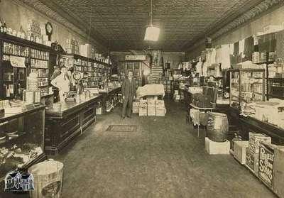 Interior of the F.W. Hutton Store, Queen Street, ca. 1904