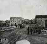 View of Queen Street looking east from point just west of Victoria bridge, 1865