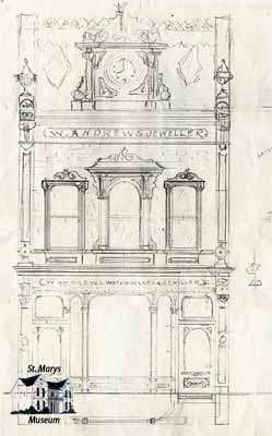 Preliminary Sketch of the Andrews Building done by architect William Williams