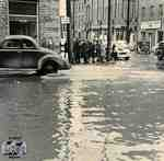 Corner of Queen and Water Streets during a flood in 1947