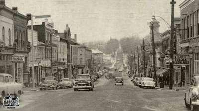 Queen Street looking west, ca. 1954