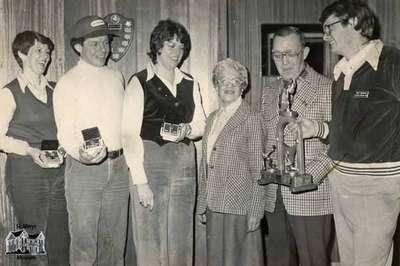 Curling Club trophy award presentation