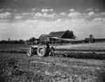 Ploughing on the farm of J. Hood, Stratford.