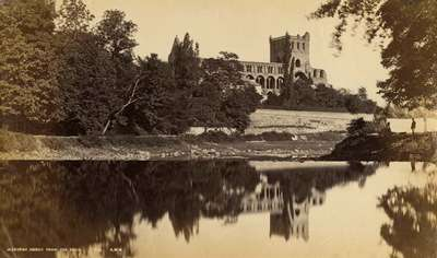 Jedburgh Abbey from the river