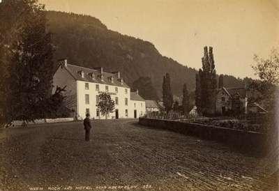 Weem Rock and Hotel, near Aberfeldy