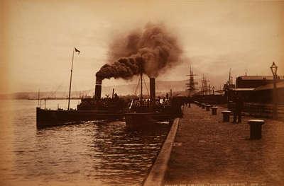 "Princess Pier, Greenock, ""River Boats Starting"""
