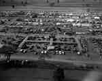 An overhead view of the International Plowing Match, Aylmer, Ontario, October 11-14, 1960.