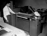 The IBM punched card system in the parts depot.