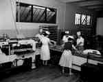 Production line at Lane's Bakery, on Lutz Street in Moncton, NB.