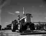 An IHC 460 tractor on the dock platform.