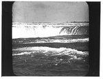 View of a waterfall, possibly Horseshoe Falls, Niagara Falls, Ontario.