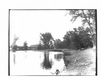 View of Grand River where Woolcott stopped, 1811, now Sam Davis Farm