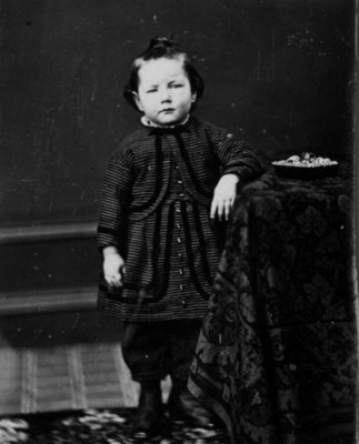 Portrait of an unidentified young child.