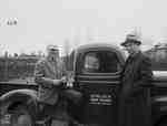 Unidentified Men Next to Truck, Hemlock Park Farms, Kingston ON
