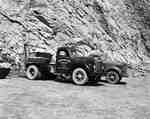Trucks in Limestone Quarry, Saint John, NB