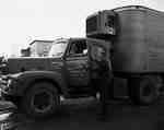 Bill Speller Getting into Truck, Vineland, ON