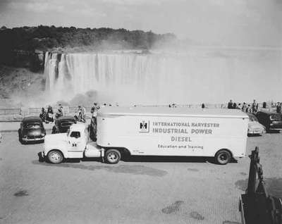 Truck Sitting in Front of Niagara Falls