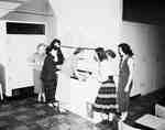 High School Girls Standing Around a Freezer, Burlington, ON