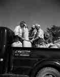 Unidentified Men Using a Combine in the Back of a Truck, Wellandport, ON