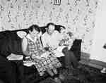 Mr. & Mrs. L. Wojciechowski Seated in Living Room, Wellandport, ON