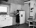 Unidentified Woman Standing in a Kitchen